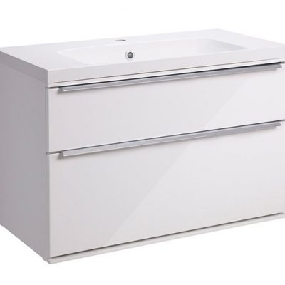 Roper Rhodes Scheme 800mm Wall Mounted Basin Unit with Double Drawers