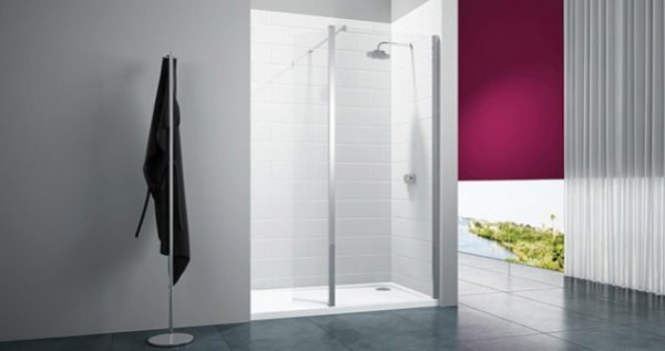merlyn 8 series showerwall with swivel panel