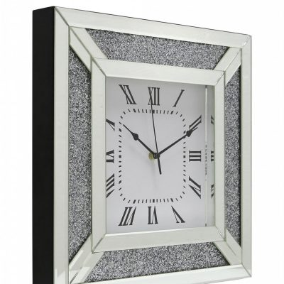 Fabiana Sparkle Wall Mirror Clock