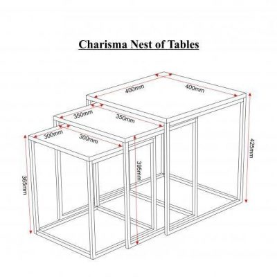 Elite Nest of 3 Tables