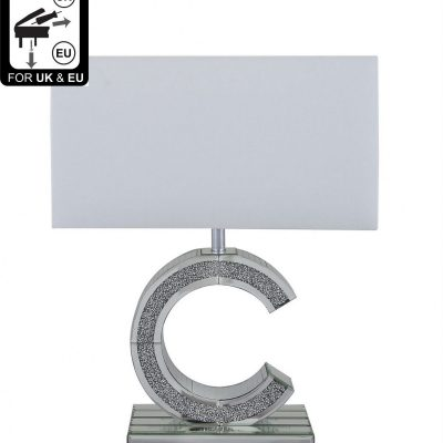 Milano Mirror 'C' Table Lamp with 17in...