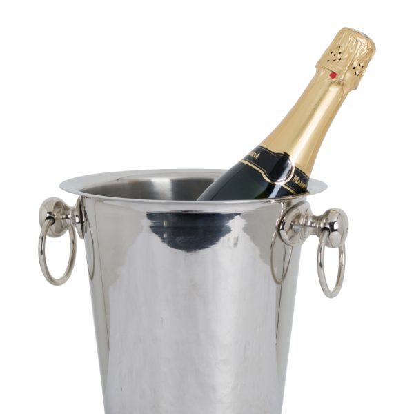 Champagne Bucket on Stand – Nickel