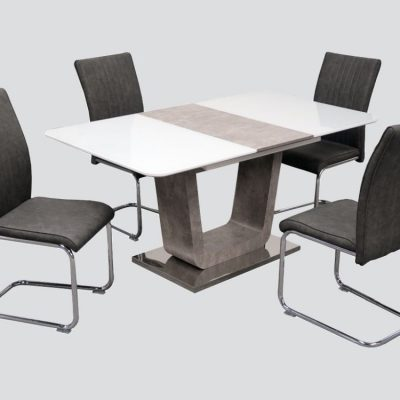 Aurora Extending Dining Table & 4 Chairs