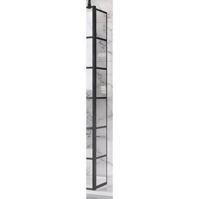 Roman Liberty 243mm Black Grid Wetroom Return Scre...